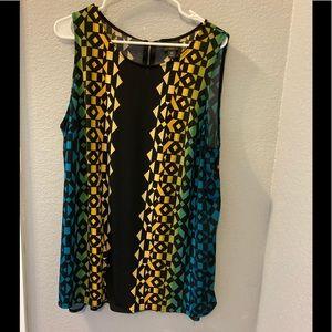 Worthington Woman Sleeveless size OX colorful